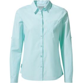 Craghoppers Kiwi Longsleeve Shirt Dames, capri blue